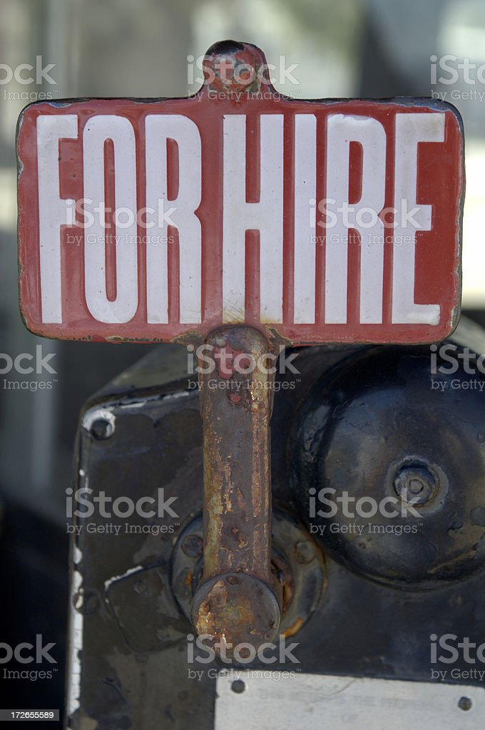 For Hire 2 royalty-free stock photo
