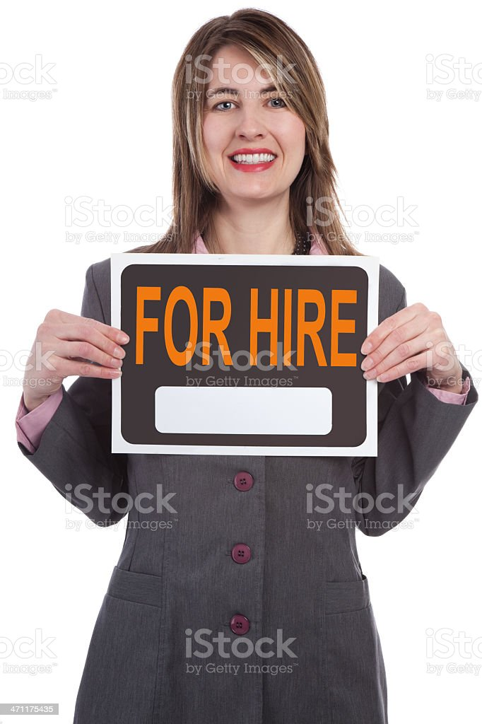 For Hire royalty-free stock photo