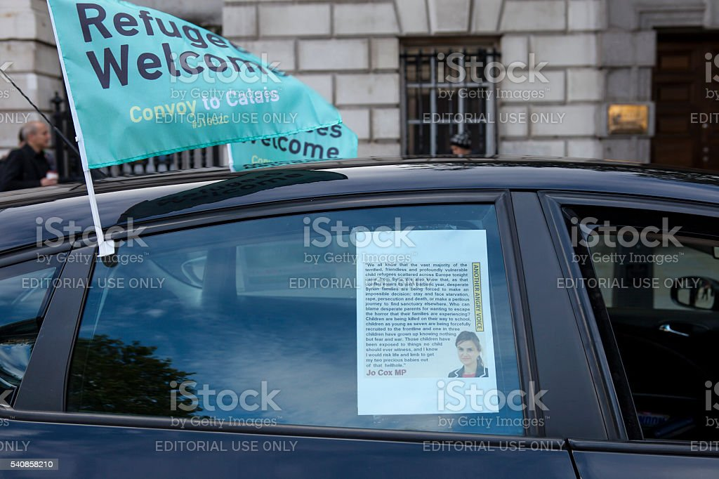 For Jo Cox, murdered Member of Parliament stock photo