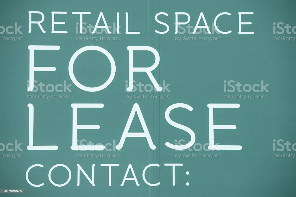 For Lease Concept stock photo