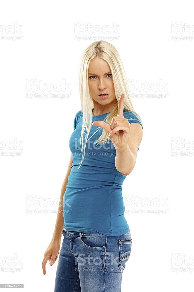 L for loser royalty-free stock photo