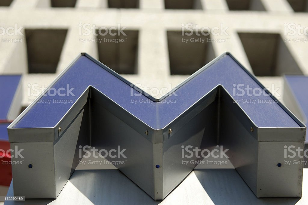 M for Metallic royalty-free stock photo