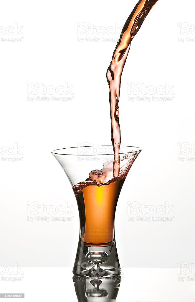 Pour royalty-free stock photo