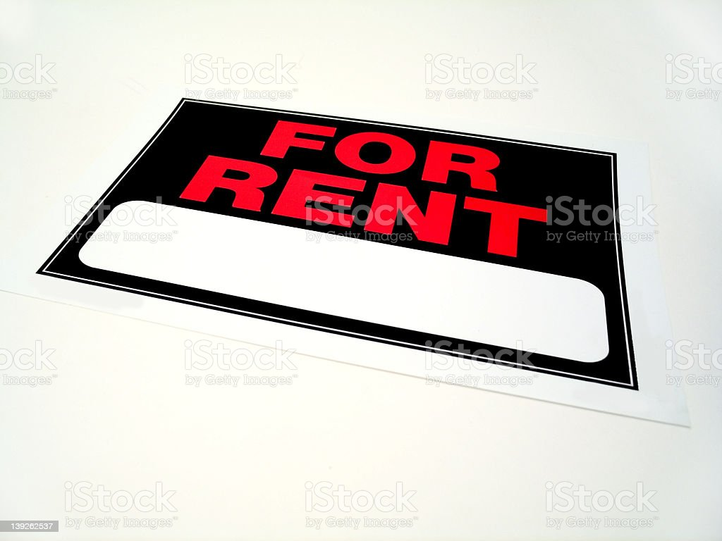 For rent sign royalty-free stock photo