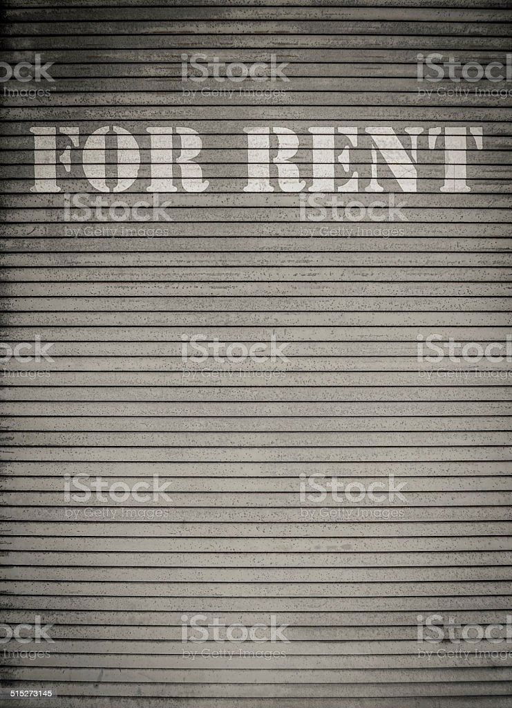 For Rent Store Shutters stock photo