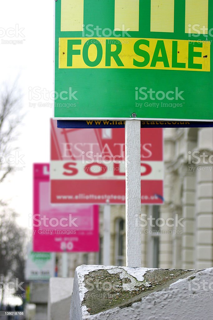 For Sale Board royalty-free stock photo