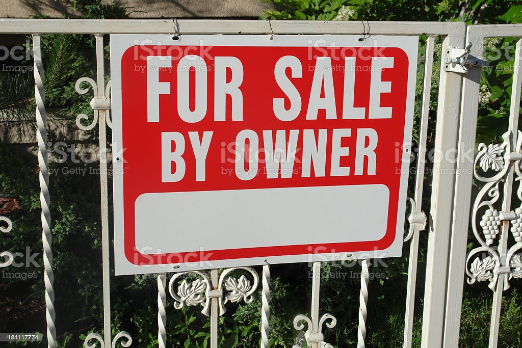 for sale by owner metal sign royalty-free stock photo