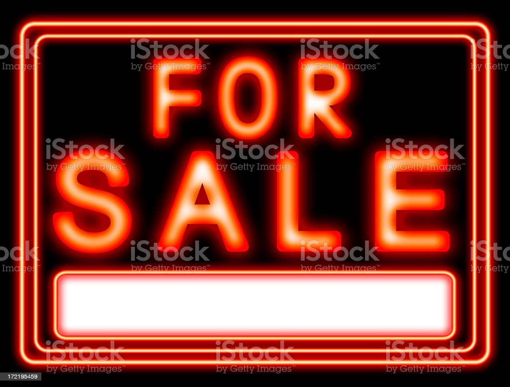 For sale neon royalty-free stock photo