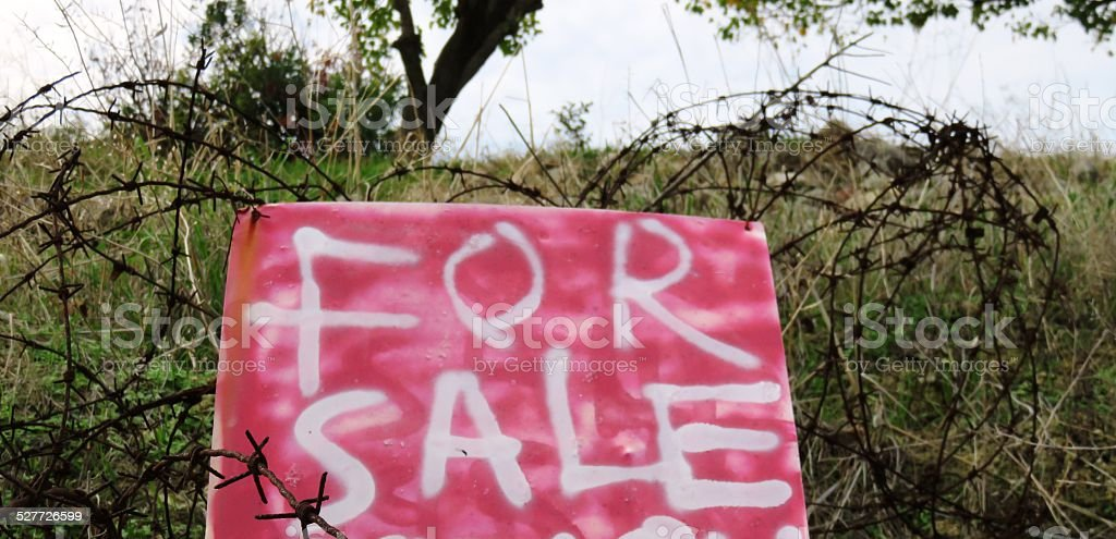 For sale, recession stock photo