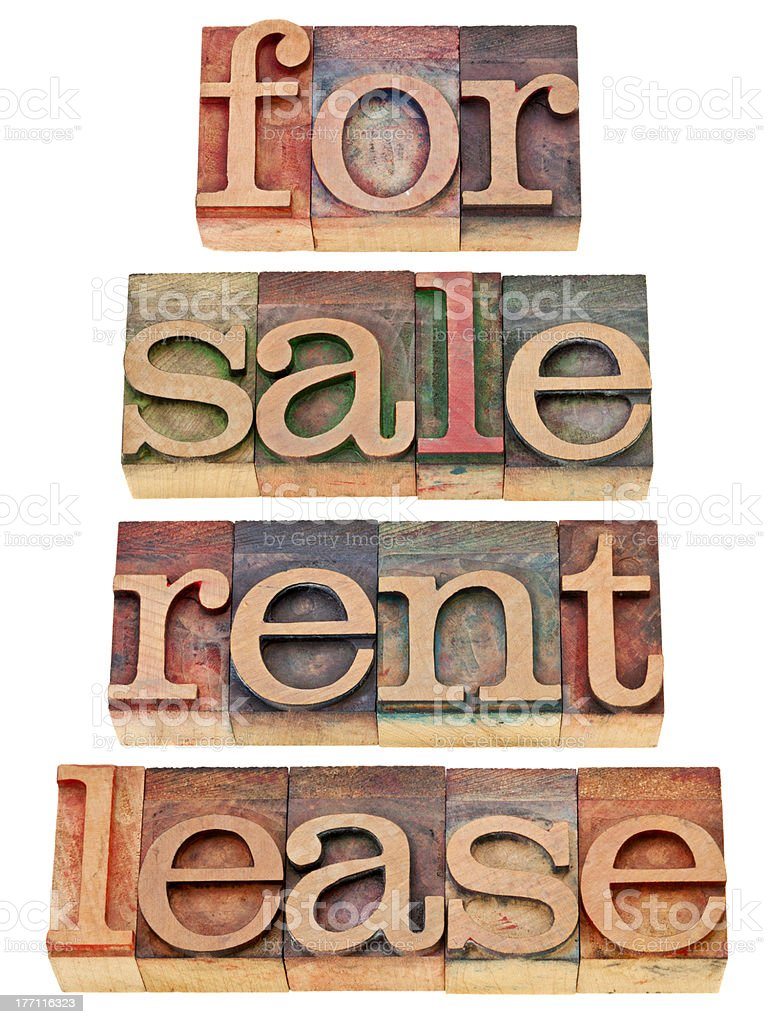 for sale, rent, lease royalty-free stock photo
