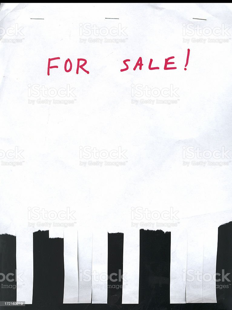 For Sale Sign with Phone Tabs - Grunge royalty-free stock photo