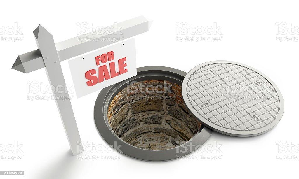 for sale street manhole open stock photo