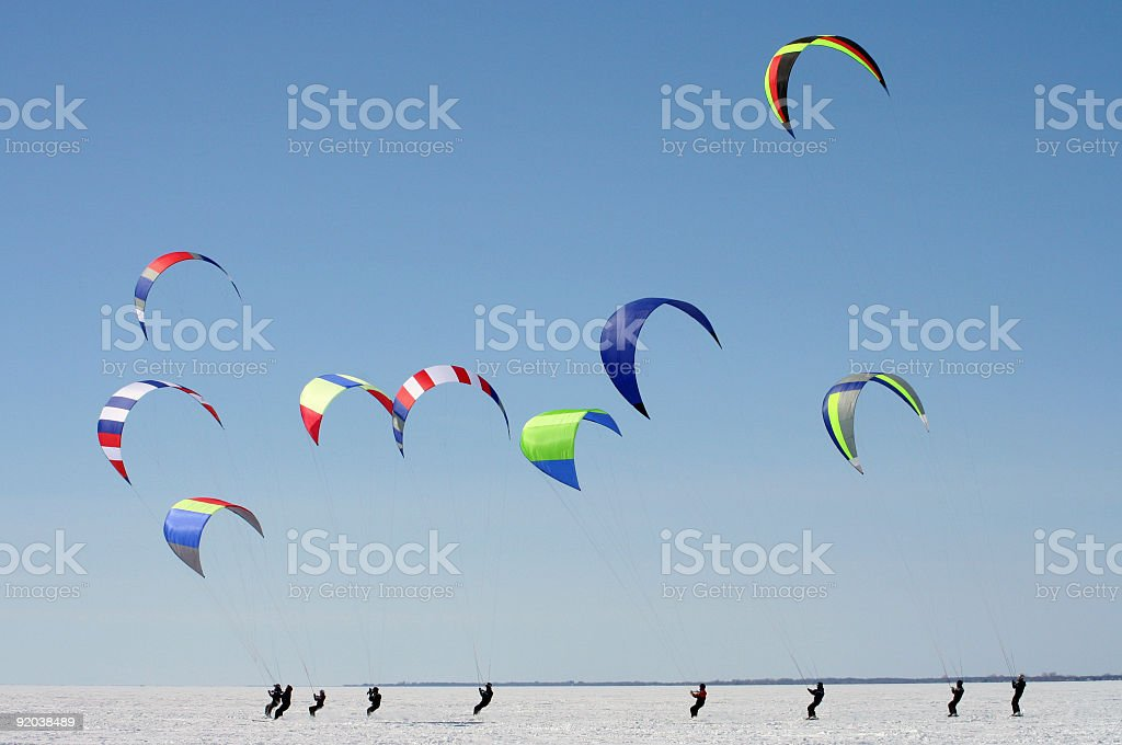 Para ski royalty-free stock photo