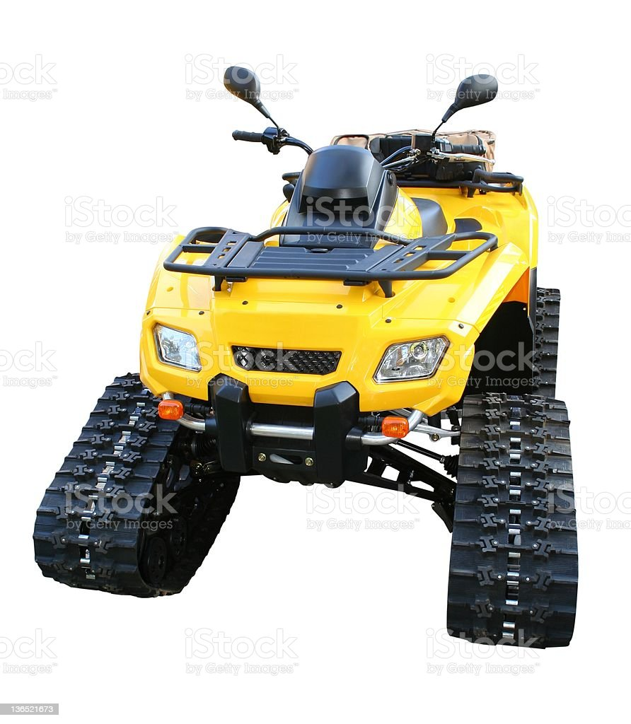 ATV for snow royalty-free stock photo
