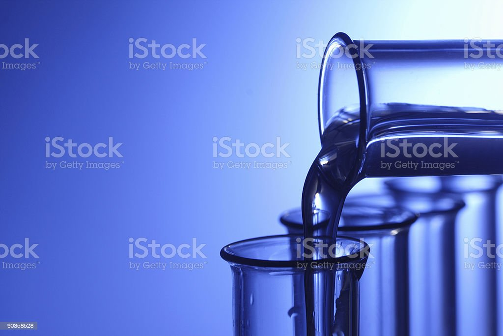 pour solution royalty-free stock photo