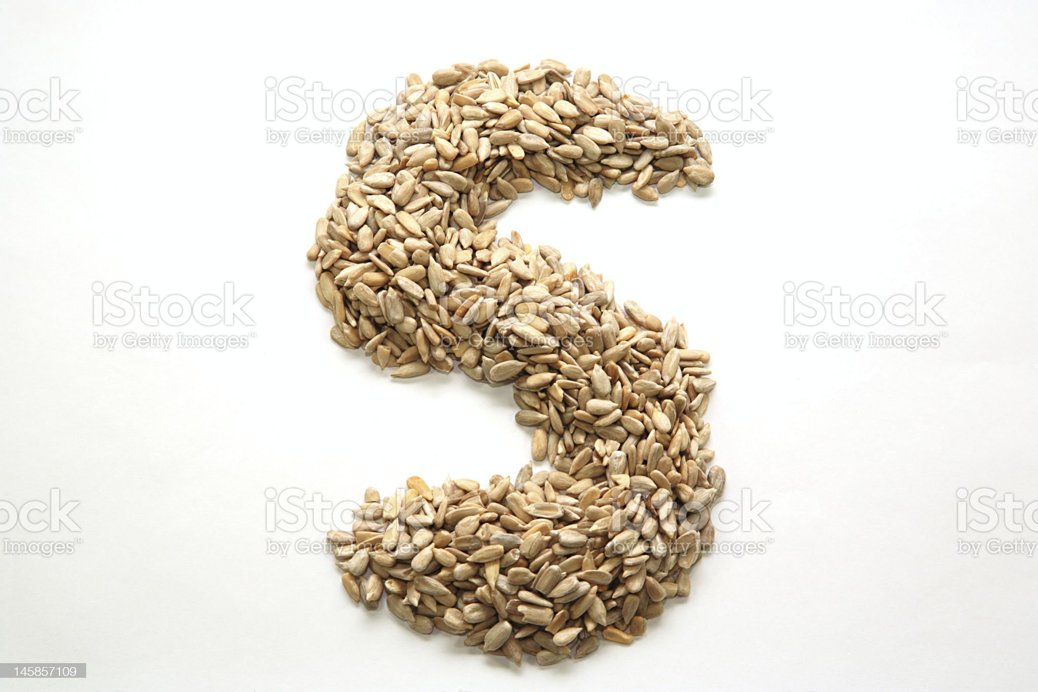 S for sunflower royalty-free stock photo