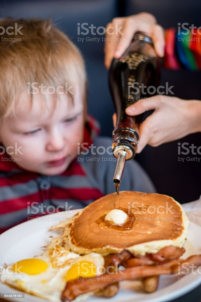 pour syrup stock photo
