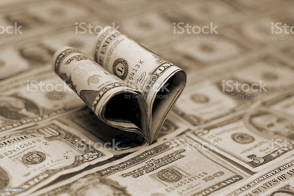 For the Love of Money IV royalty-free stock photo