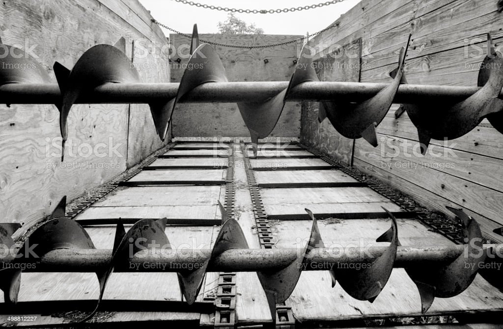 Forage Box Augers stock photo