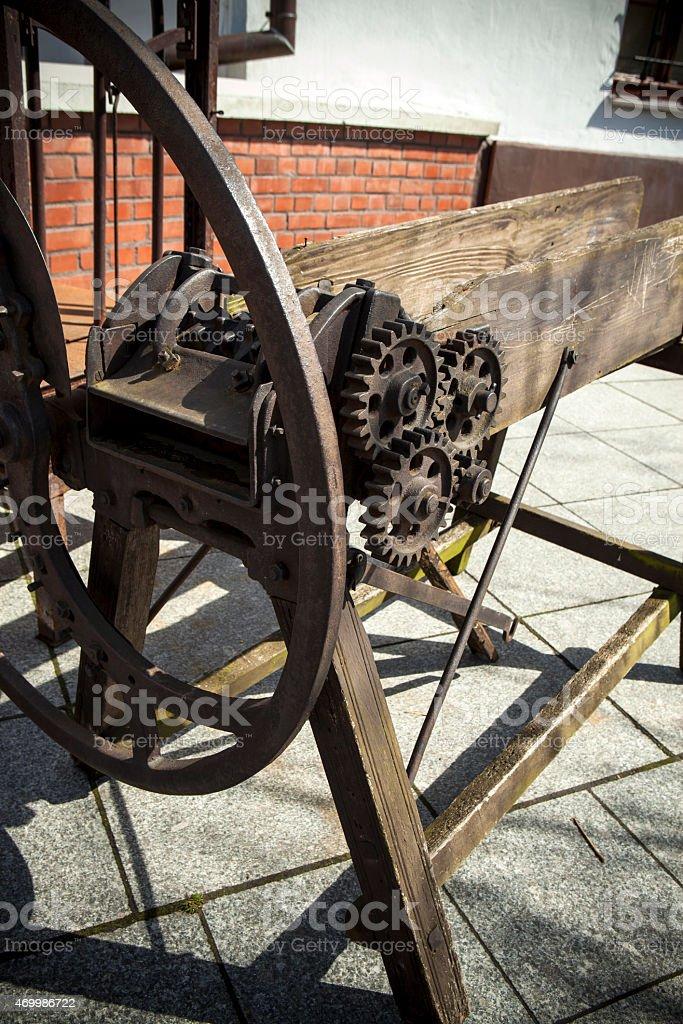 Forage harvester stock photo