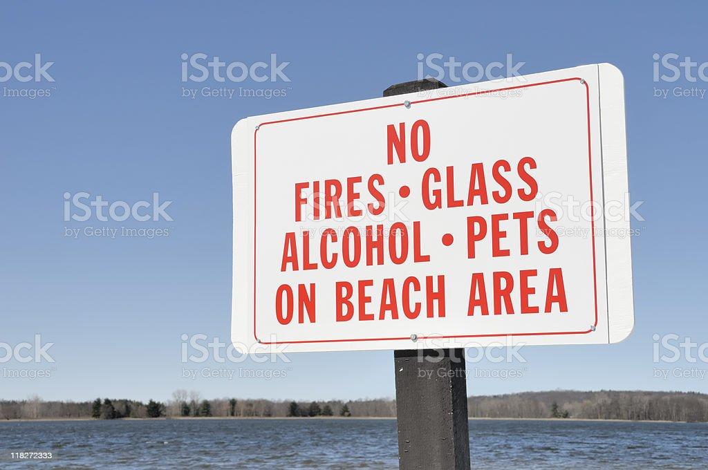 Forbidden Activities Sign stock photo