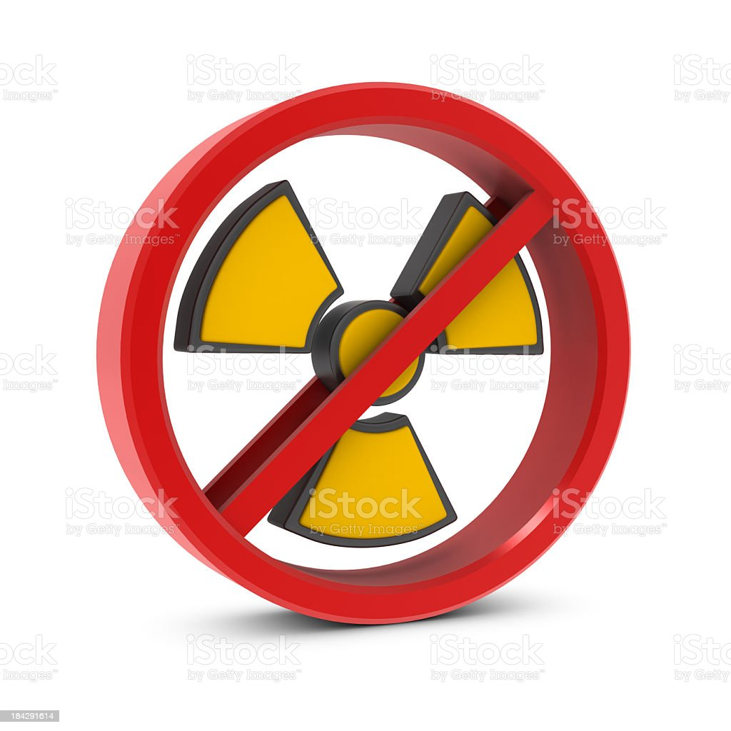Forbidden and Radiation Sign royalty-free stock photo