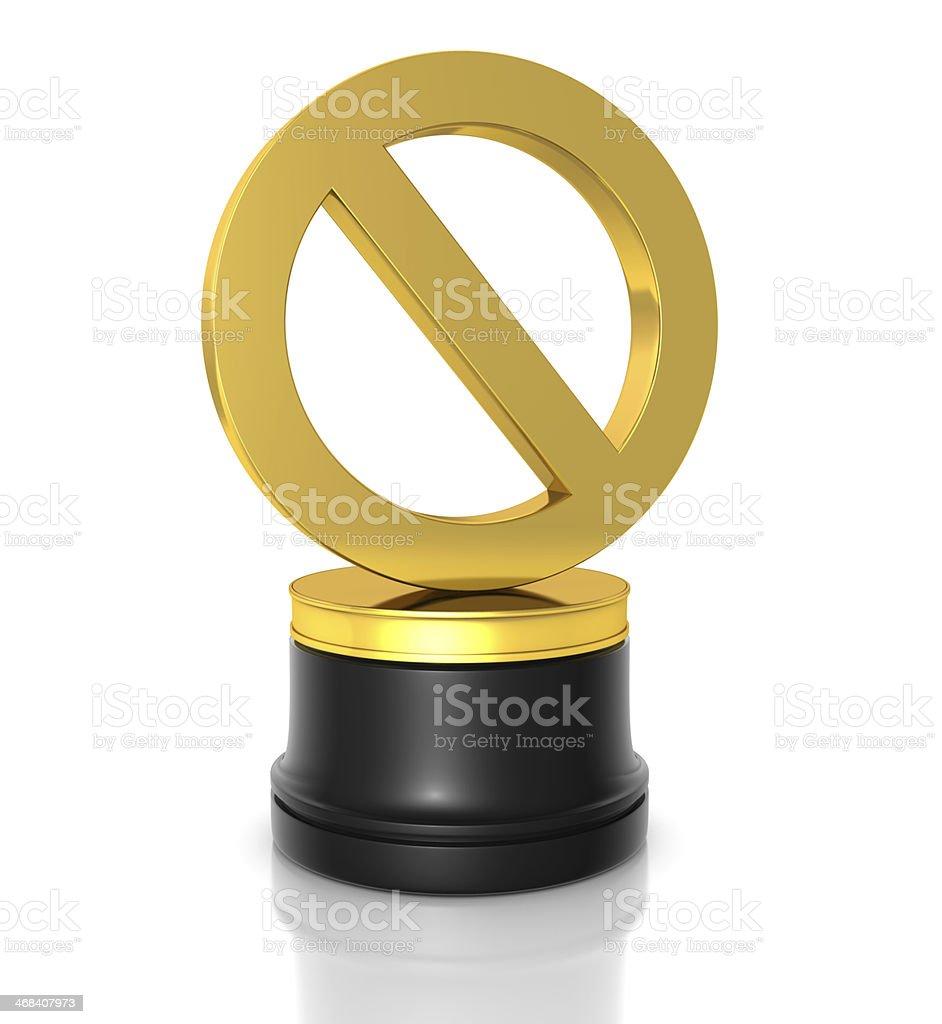 Forbidden Award stock photo