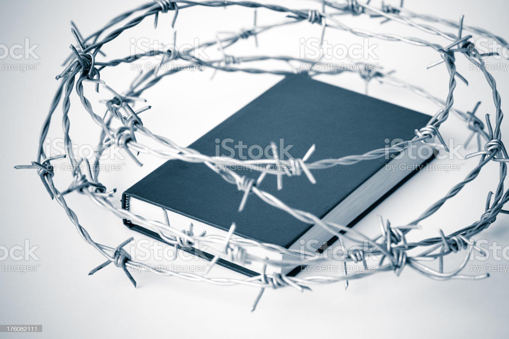 Forbidden book royalty-free stock photo
