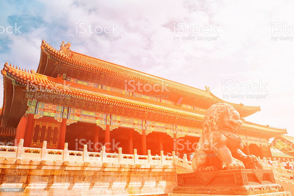 Forbidden City - Beijing, China stock photo