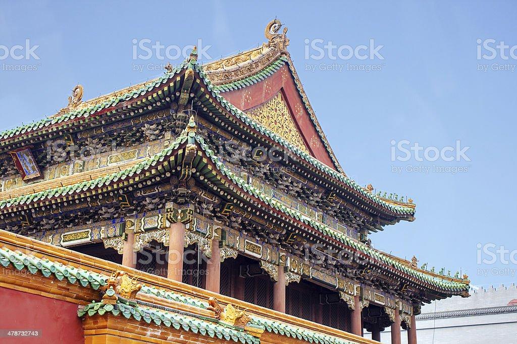 Forbidden city Beijing Shenyang Imperial Palace China stock photo