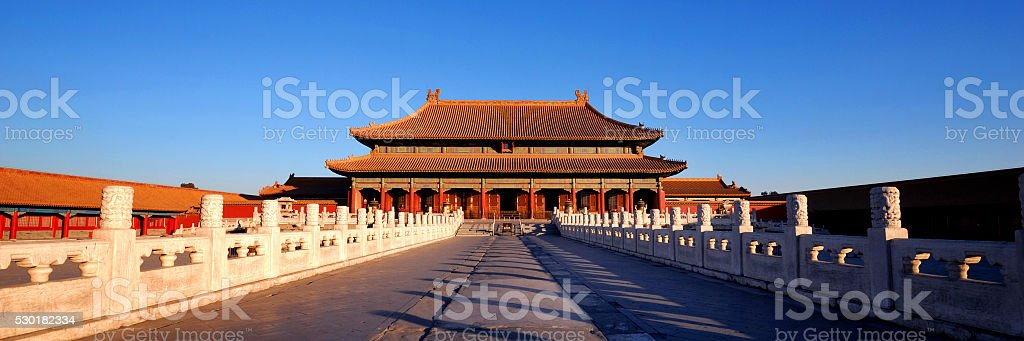 Forbidden City Chinese Culture Ancient Concept stock photo