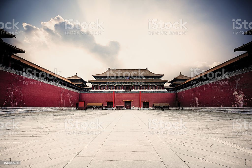 Forbidden city entrance stock photo