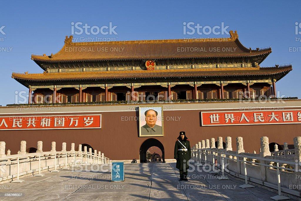 Forbidden City entrance royalty-free stock photo