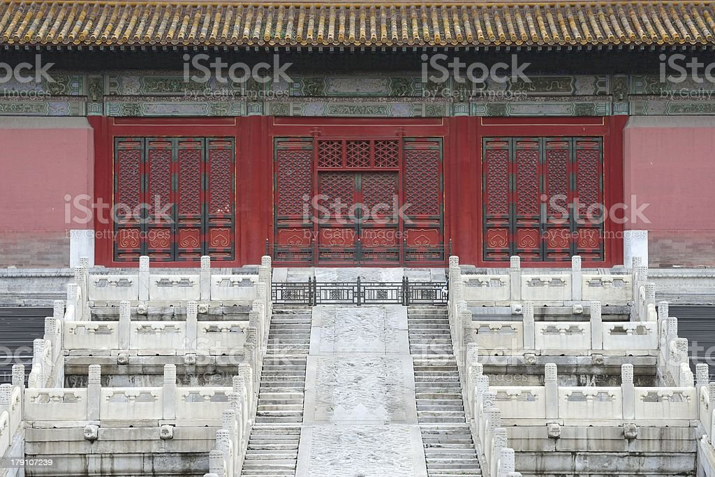 Forbidden City in Beijing. Famous Chinese landmark. royalty-free stock photo