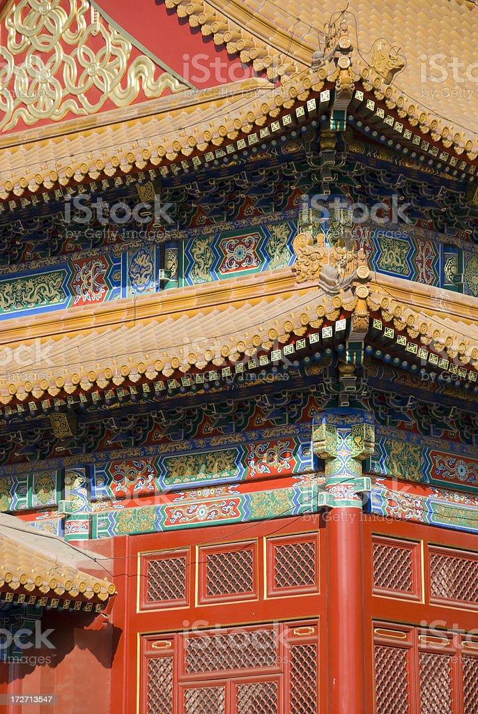 Forbidden City in detail stock photo