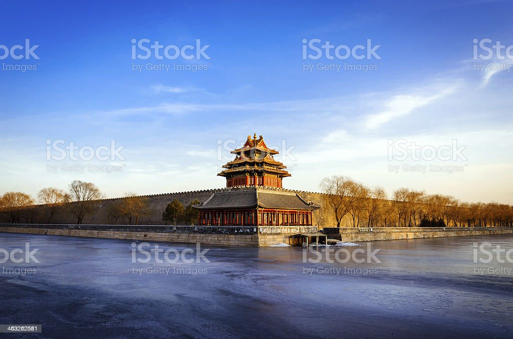Forbidden City in Peking china royalty-free stock photo
