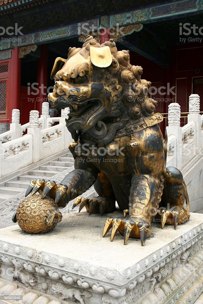 Forbidden City Lion royalty-free stock photo