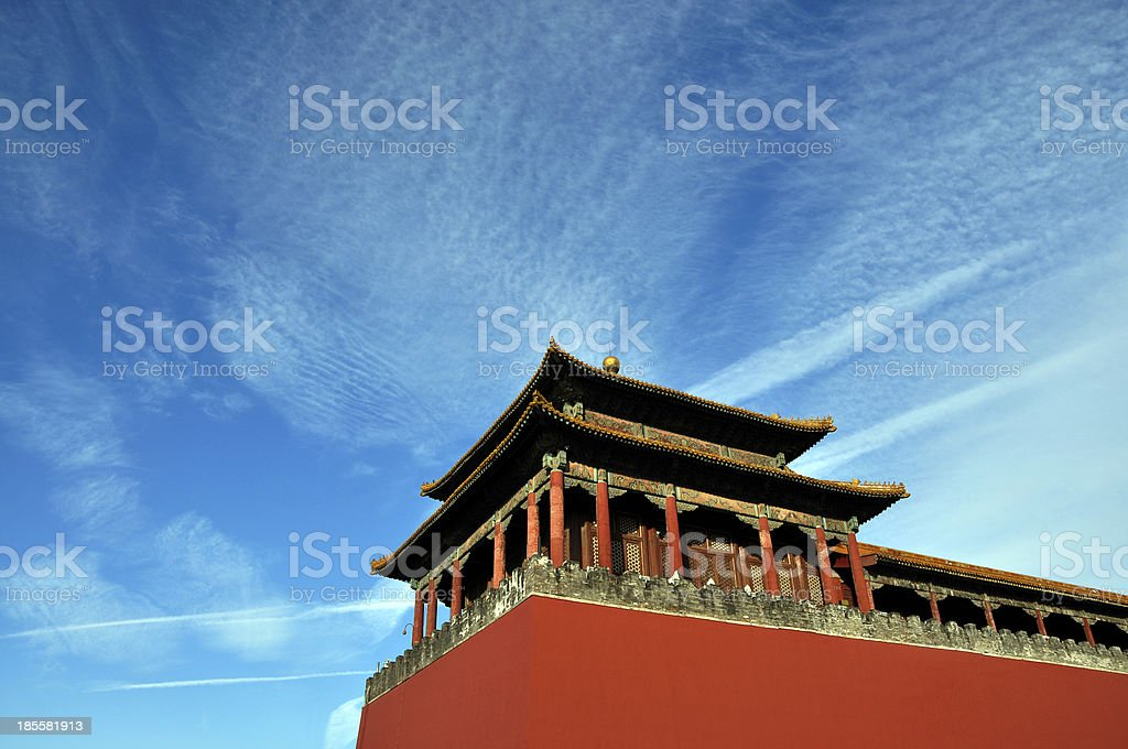 Forbidden City Meridian Gate stock photo