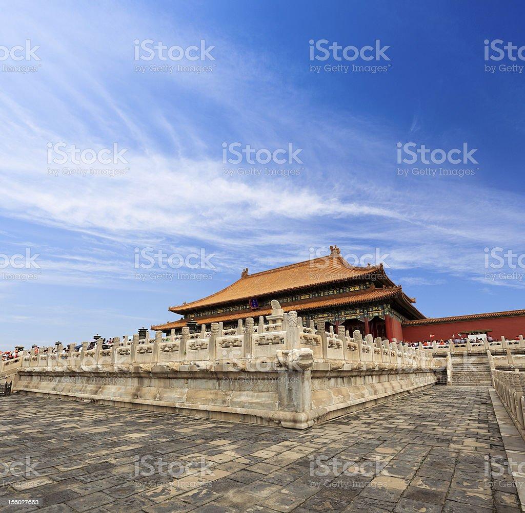 forbidden city of China stock photo
