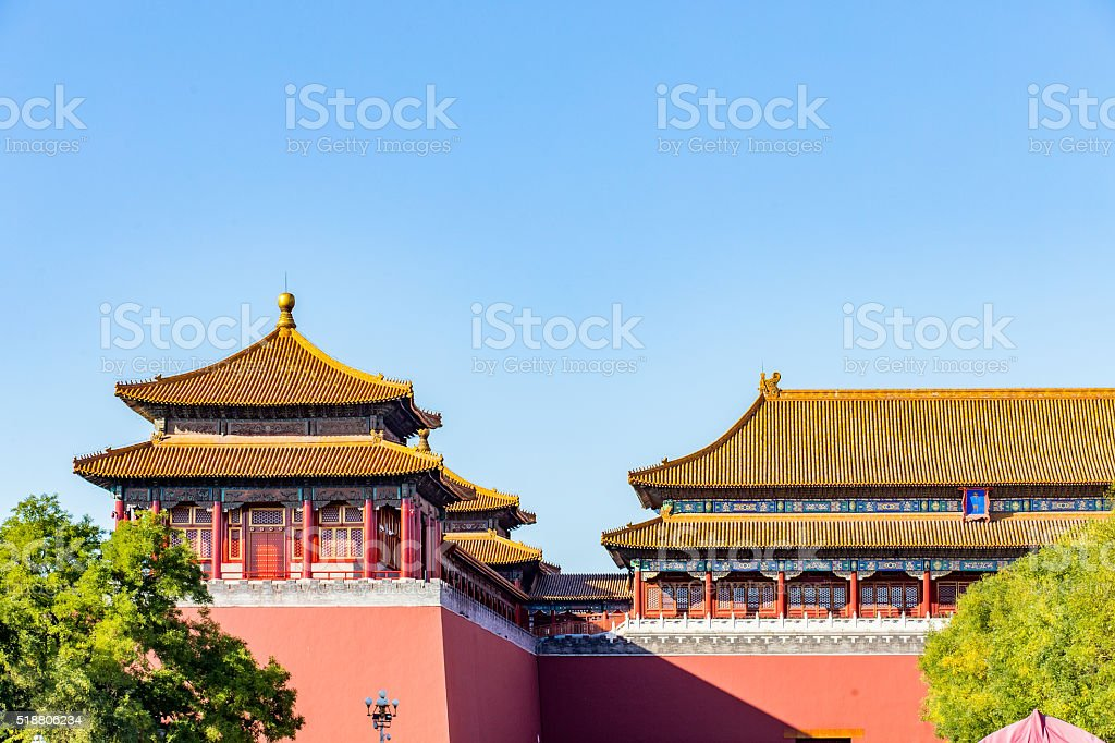 Forbidden City. stock photo