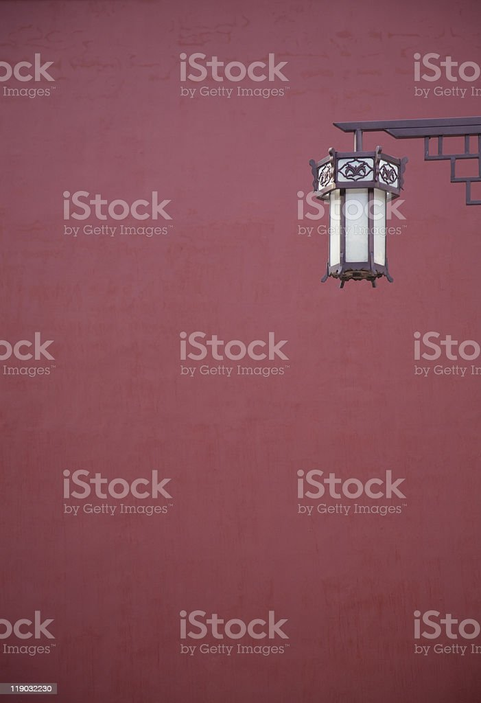 Forbidden City red wall stock photo