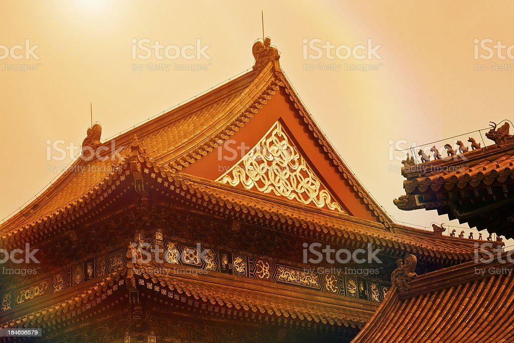 Forbidden City Temple royalty-free stock photo