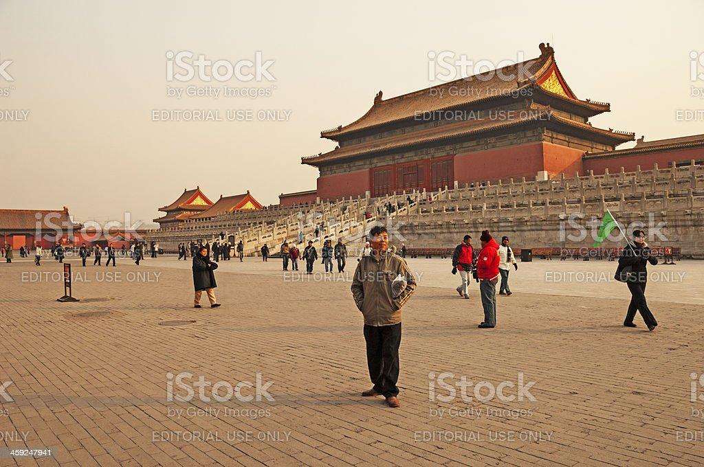 Forbidden City Visitors royalty-free stock photo
