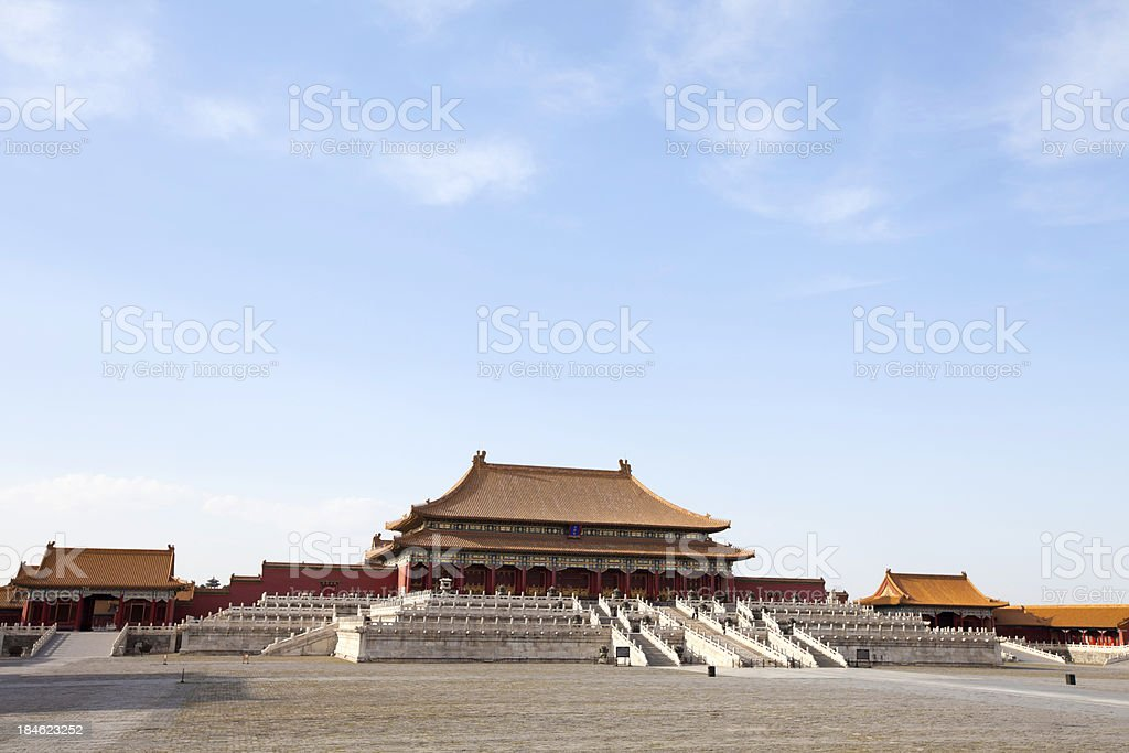 Forbidden City With Cloudscape stock photo