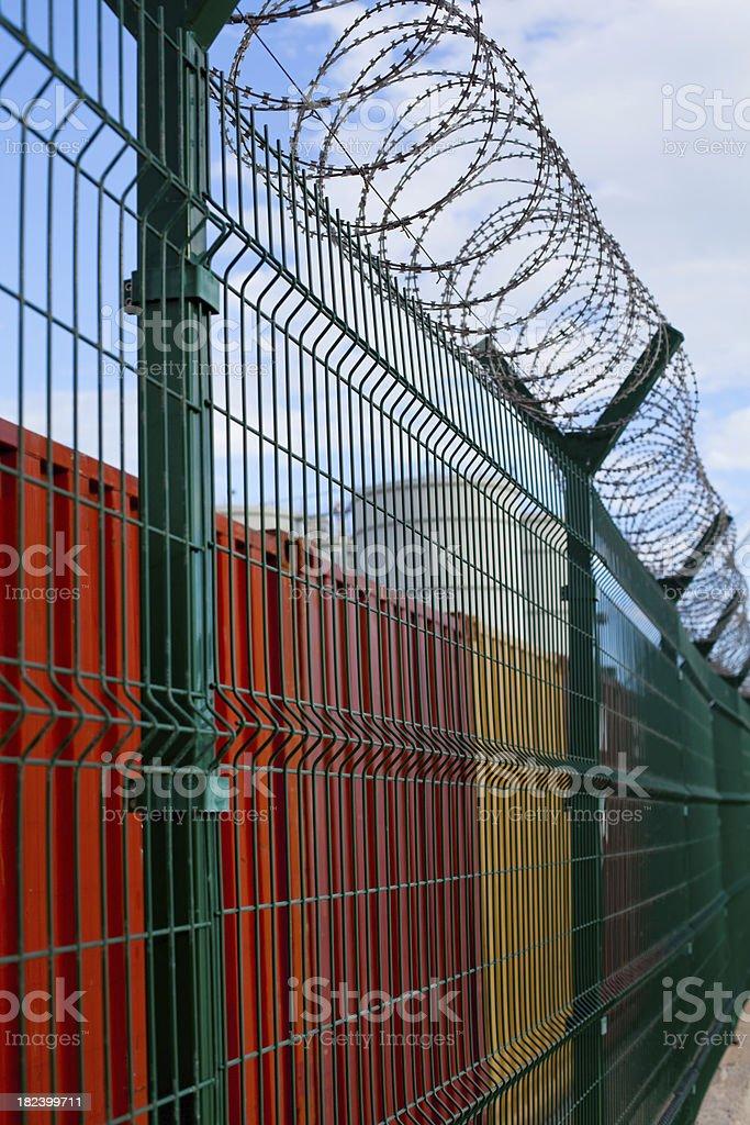 Forbidden Customs Area royalty-free stock photo