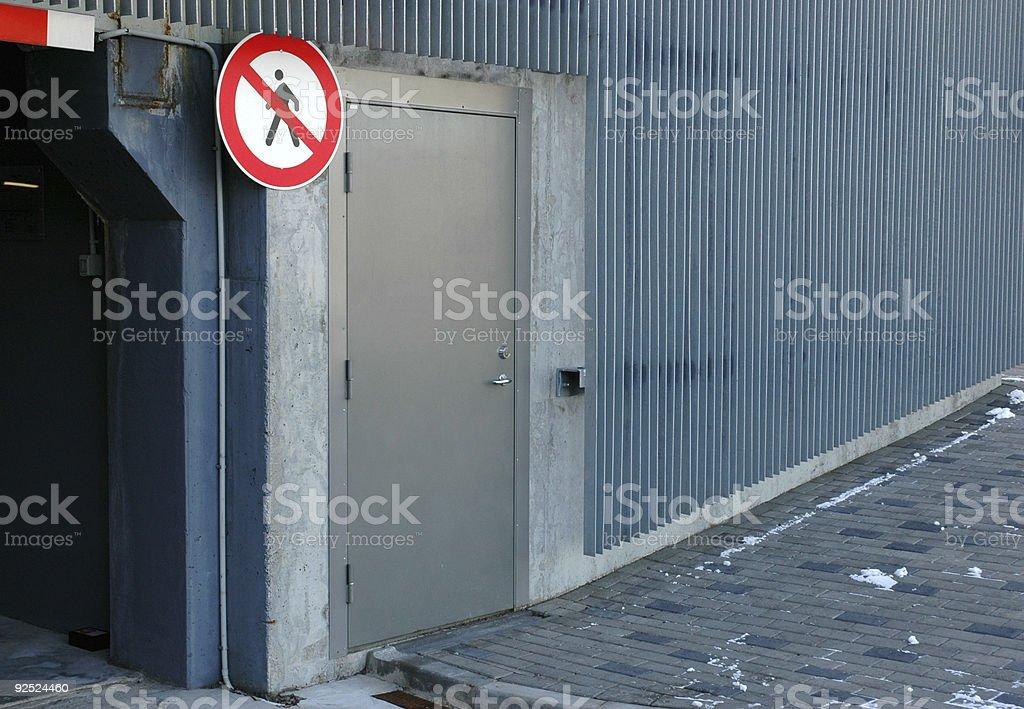 Entrée interdite photo libre de droits