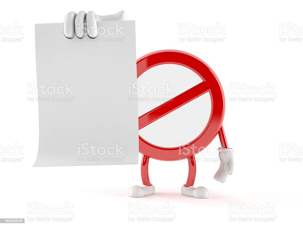 Forbidden royalty-free stock photo
