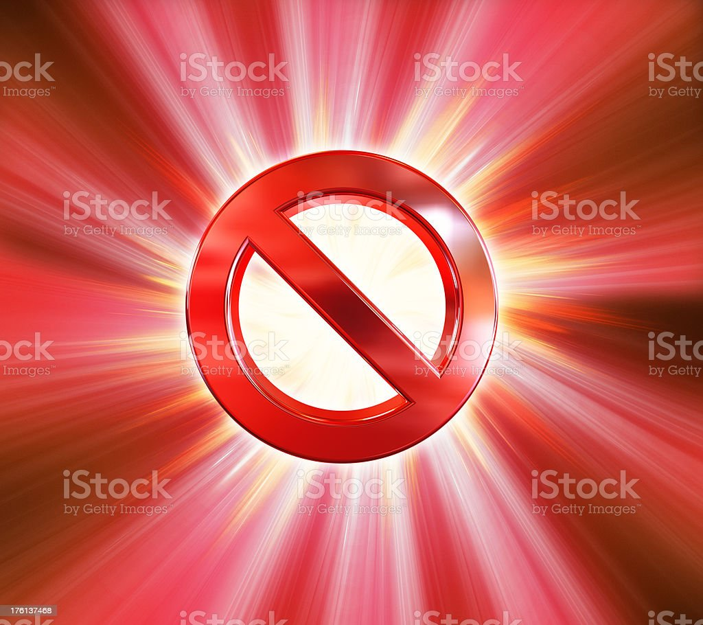 Forbidden sign royalty-free stock photo