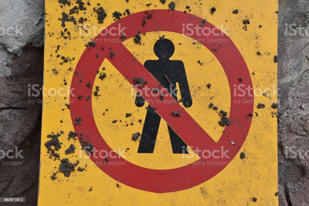 forbidden Sign stock photo