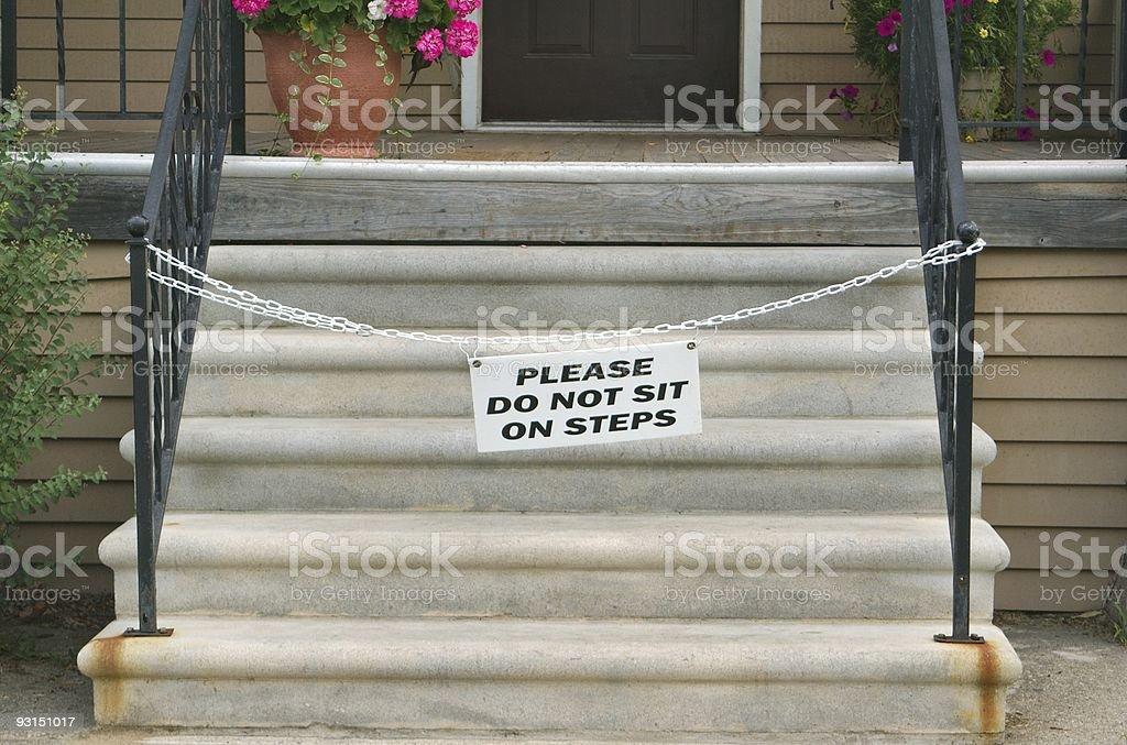 Forbidden Steps royalty-free stock photo